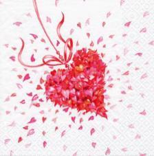 20 servilletas. Corazón