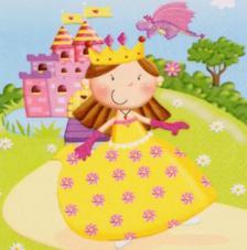 20 servilletas. Princesa