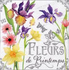 20 servilletas. Flores primavera