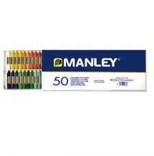 Estuche 50 ceras Manley