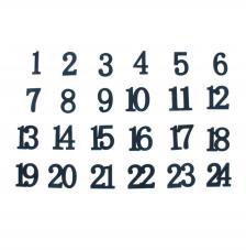 24 números de madera 3 cm. Azul Oscuro