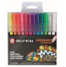Estuche Bolígrafo Gel Moonlight. 12 colores
