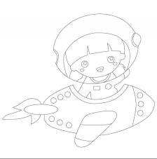 Astronauta 2. 20x20 cm Precortado