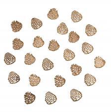 Piñas de madera gliterados 2,5 cm.12 unidades