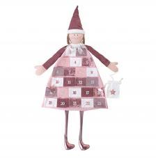 Calendario de adviento textil rosas 118x53 cm