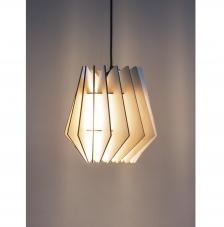 Lámpara madera 18,5x18,5x20 cm. 18 piezas