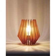 Lámpara madera 22x22x23,5 cm. 20 piezas