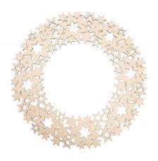 Corona ornamento estrellas de madera Ø 35 cm