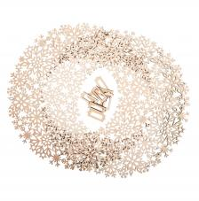 Corona ornamento copitos de madera Ø 35 cm