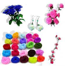 Medias de colores para flores