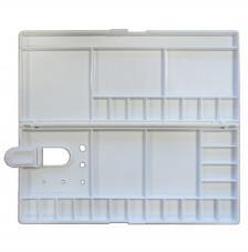 Paleta plástico rectangular 30x13,5 cm (cerrada) con tapa.