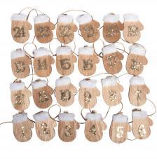 24 números calendario adviento guantes 4,5 cm