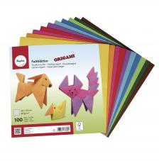 100 hojas Origami 20x20 cm. Colores