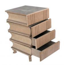 Cajonera giratoria 4 libros 40x22x23 cm