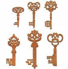 Siluetas 6 llaves 4x7cm y 2x2,5 cm