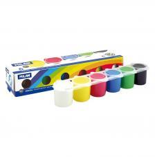 Estuche 6 botes 25 ml de témpera colores surtidos