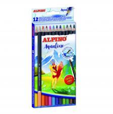 Caja 12 lapices de colores acuarelables Aqualine