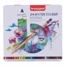 Estuche metal 24 lápices acuarela Expression