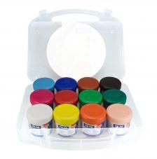 Maletín 12 tarros de témpera de colores 40 ml con pincel