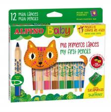 Mis primeros 12 lápices de colores Baby Alpino