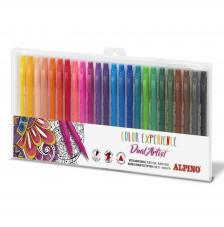 Estuche 24 rotuladores de colores Experience. Doble Punta