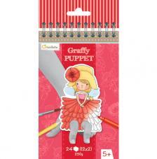 Cuaderno para colorear Graffy Puppet Hadas