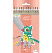 Cuaderno para colorear Graffy Puppet Mascotas