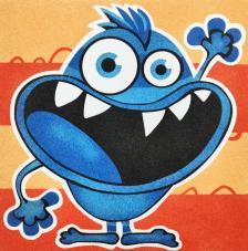 Lámina Monstruo Azul. 3 medidas disponibles