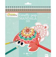 Cuaderno para colorear Graffy Pop Mandala 3D