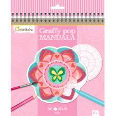Cuaderno para colorear Graffy Pop Mandalas Rosa