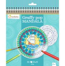 Cuaderno para colorear Graffy Pop Mandalas Azul
