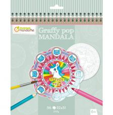 Cuaderno para colorear Graffy Pop Mandalas Unicornio