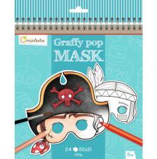Cuaderno para colorear con dibujos de máscaras Graffy Pop Mask Niños