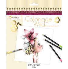 Cuaderno para Colorear Wild 1 20x20 cm Avenue Mandarine