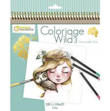 Cuaderno para Colorear Wild 3 20x20 cm Avenue Mandarine