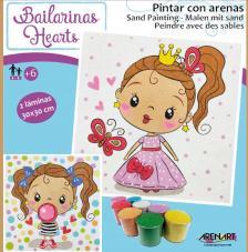 Kit pintar con arenas Princesas Hearts