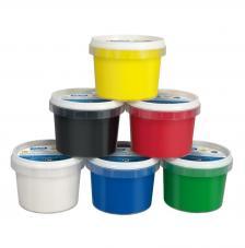 Maletín 6 tarros de pintura para dedos de colores 100 ml