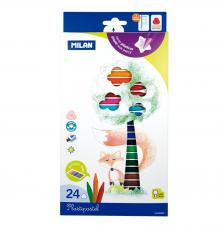Caja 24 Plastipastel de colores