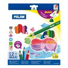 Caja 12 lápices de colores MAXI triangulares