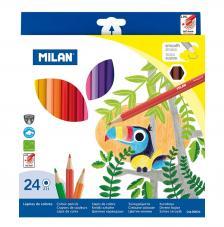 Caja 24 lápices de colores hexágonales