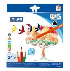 Caja 24 lápices de colores acuarelables con pincel