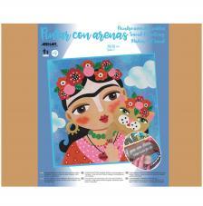 Pintar con arenas Frida Kahlo Flores 38x38 cm