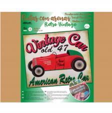 Pintar con arenas Vintage Car 46x38 cm