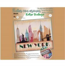 Pintar con arenas Nueva York Skyline 46x38 cm