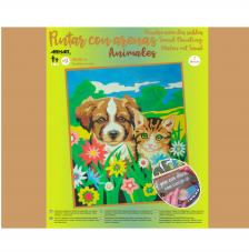 Pintar con arenas Perro y Gato 38X46 cm