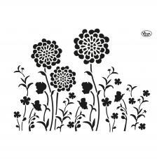 Stencil 42x29,7 cm. Prado de Flores