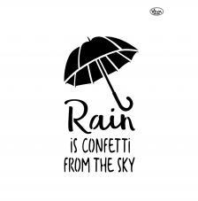 Stencil 42x29,7 cm.Paraguas