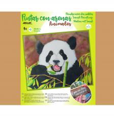 Pintar con arenas Oso Panda 46x38 cm