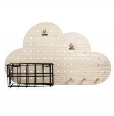 Pin & Peg Estanteria y colgador Nube 40x10x23,5 cm