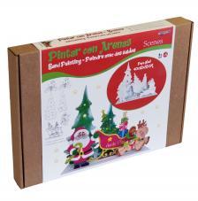Pintar con arenas. Papá Noel Christmas 3D 40x35x12 cm